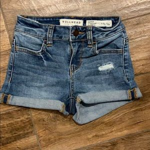 Bullhead Distressed Super Stretch Shorty Sz 22